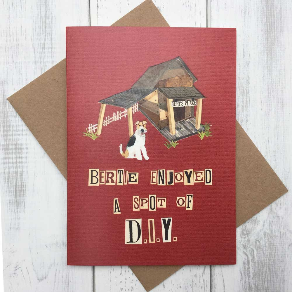 DIY Home Improvement Dog Lover Fox Terrier Greeting Card