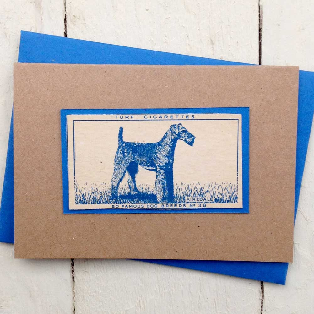 Airedale Terrier greeting card - The Enlightened Hound