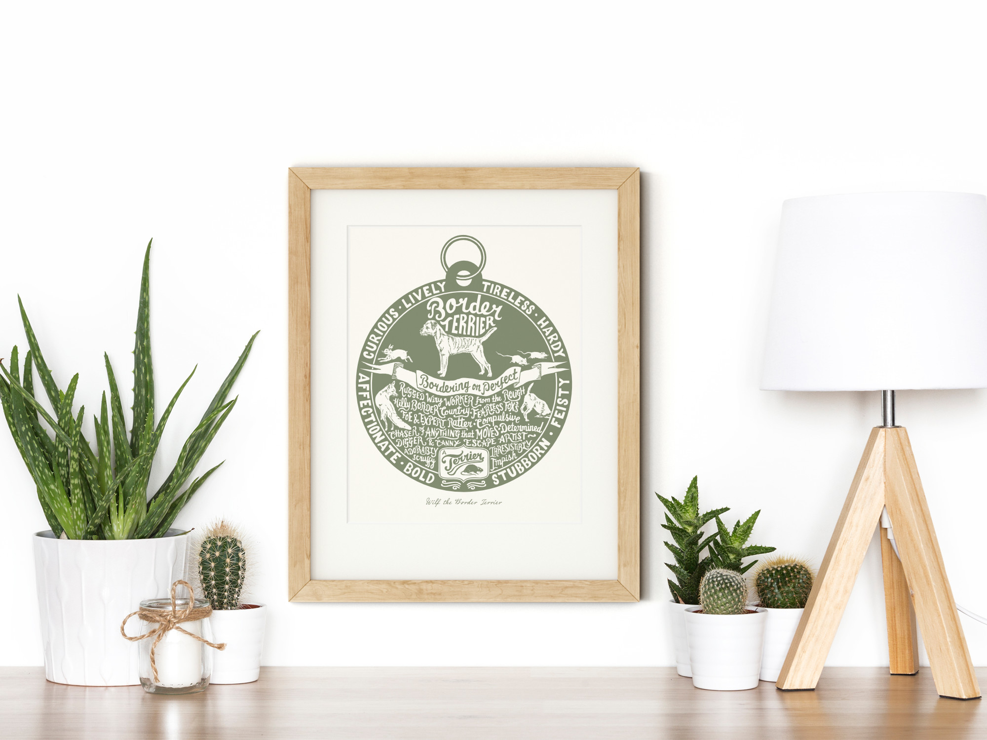Border Terrier lover dog art gifts by The Enlightened Hound