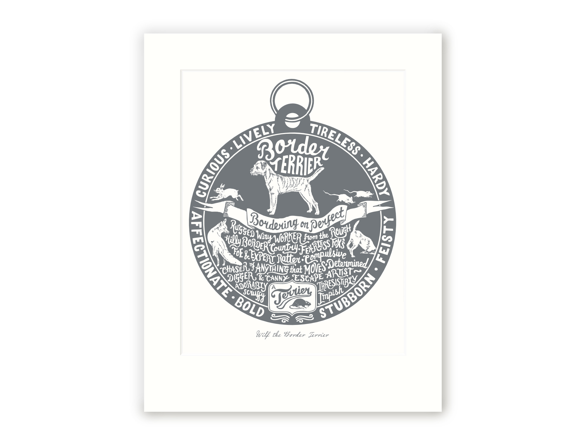 Border Terrier - Personalised Prints for Dog Lovers by The Enlightened Hound