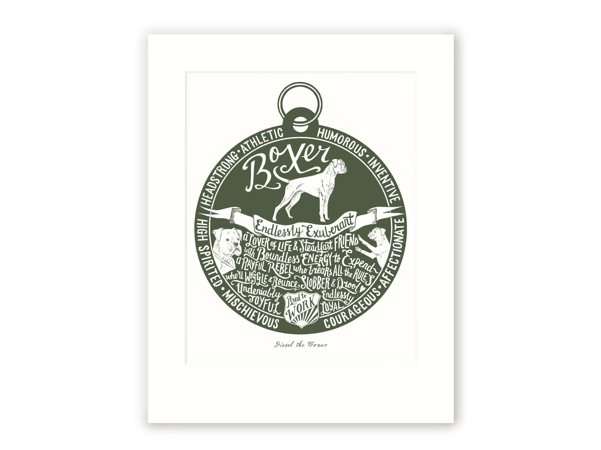 Boxer - Personalised Prints for Dog Lovers by The Enlightened Hound