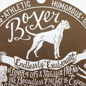 Boxer Print Detail by Debbie Kendall