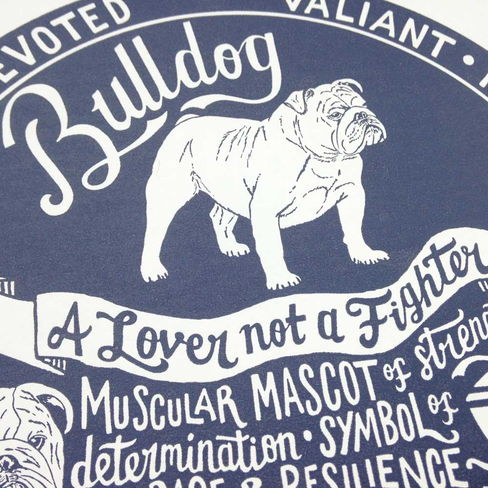 Bulldog original art prints - Hand lettering & Illustration by Debbie Kendall
