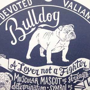 Bulldog Print Detail by Debbie Kendall