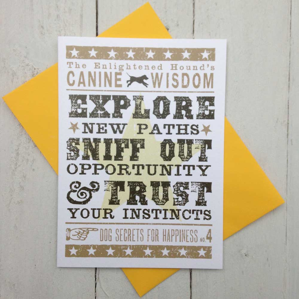 Typographic Cards for Dog Lovers - The Enlightened Hound