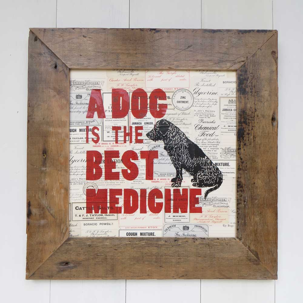 Cool dog Art gift for dog lover by The Enlightened Hound