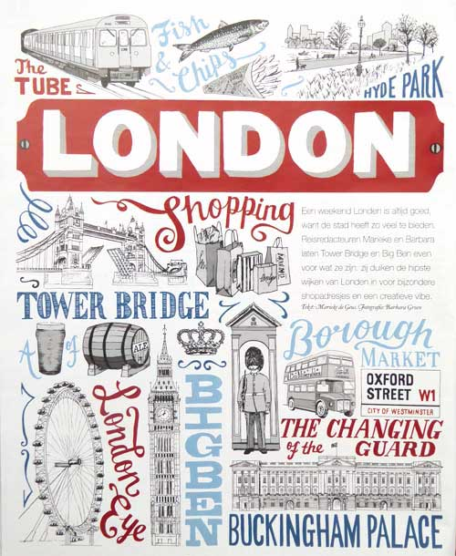 Debbie Kendall London Illustration for Libelle magazine