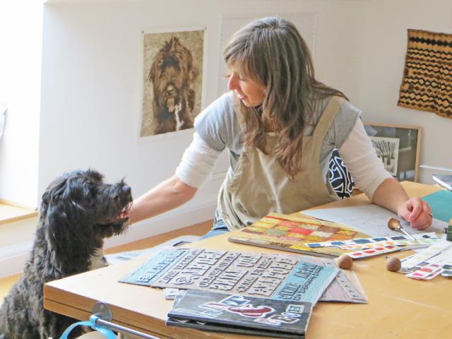 Debbie Kendall & Printmakers Dog