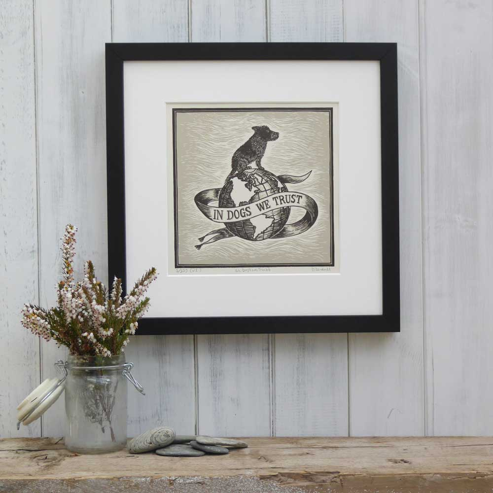 Limited edition dog art print by The Enlightened Hound