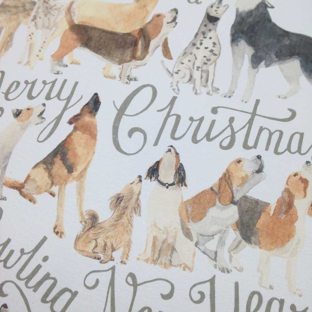 Original Dog Artist Christmas Cards by The Enlightened Hound
