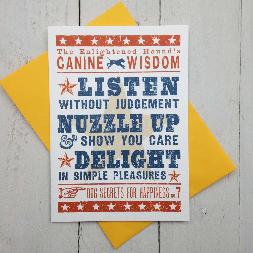 Dog Birthday Cards Canine Wisdom - The Enlightened Hound
