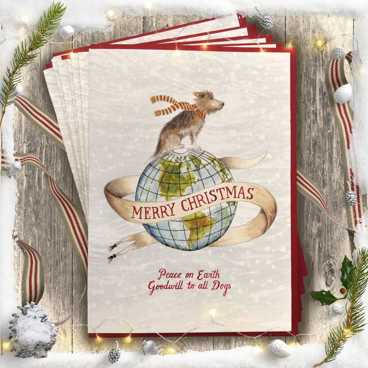 Peace on Earth Christmas Card PACK OF 10