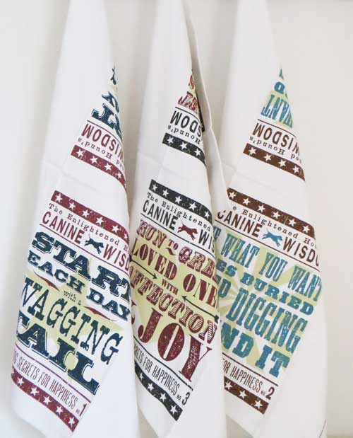 Dog Kitchen Tea Towels by The Enlightened Hound