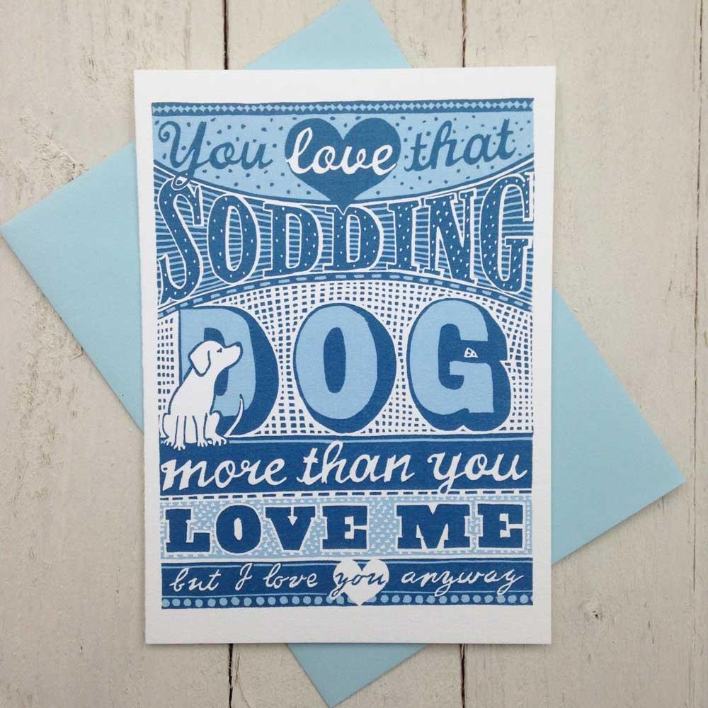 Dog Love Birthday card - The Enlightened Hound
