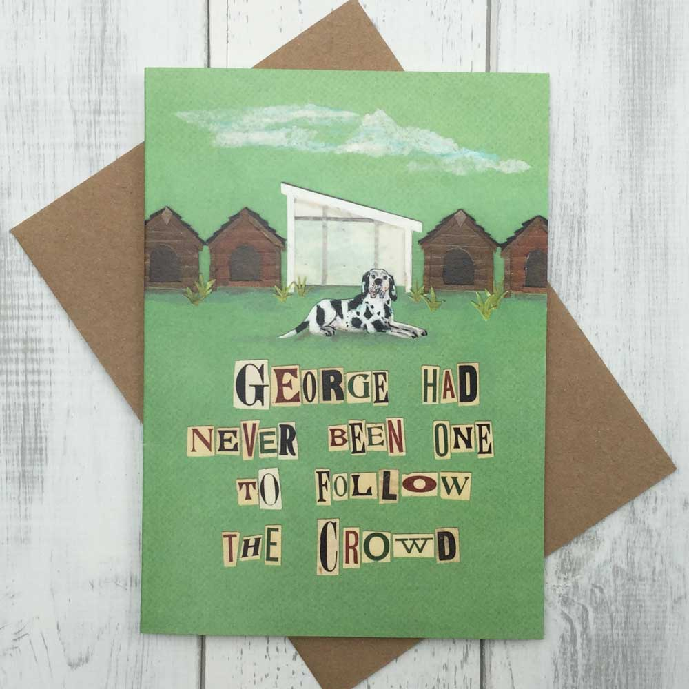 Architect Dog Lover Humorous Greeting Card