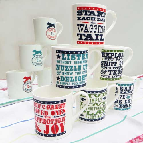Dog Word Art Mugs by The Enlightened Hound