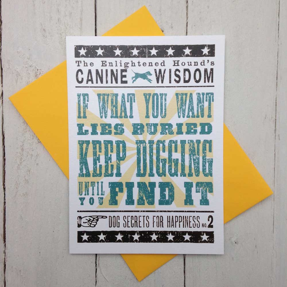 Dog Sayings Word Art Cards - The Enlightened Hound