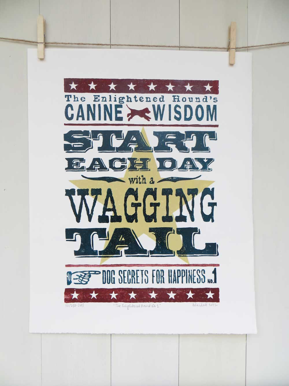 Inspirational Dog Sayings Prints No1 - The Enlightened Hound