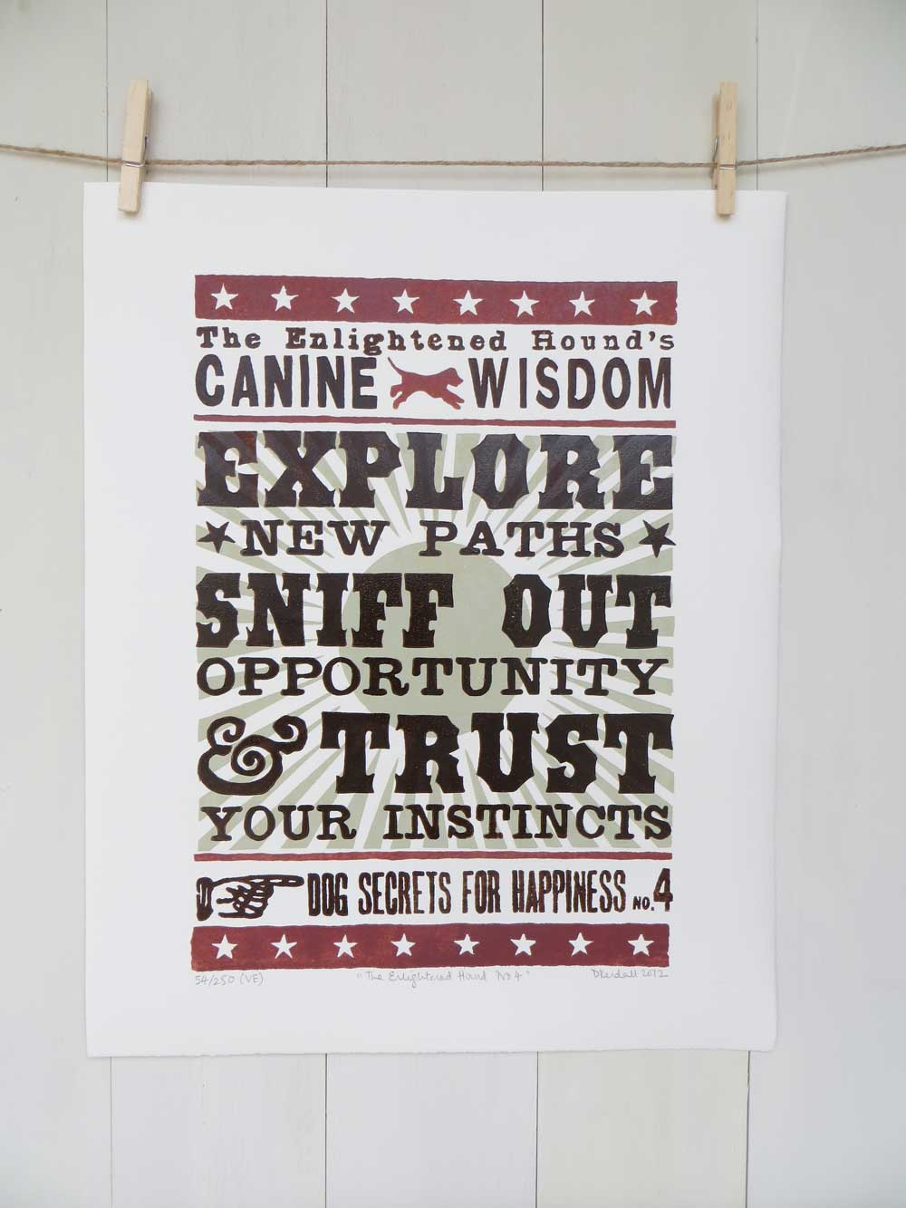 Inspirational Dog Sayings Prints No4 - The Enlightened Hound