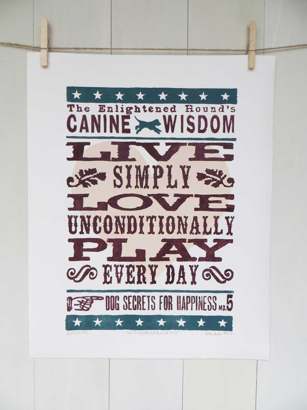 Inspirational Dog Sayings Prints No5 - The Enlightened Hound