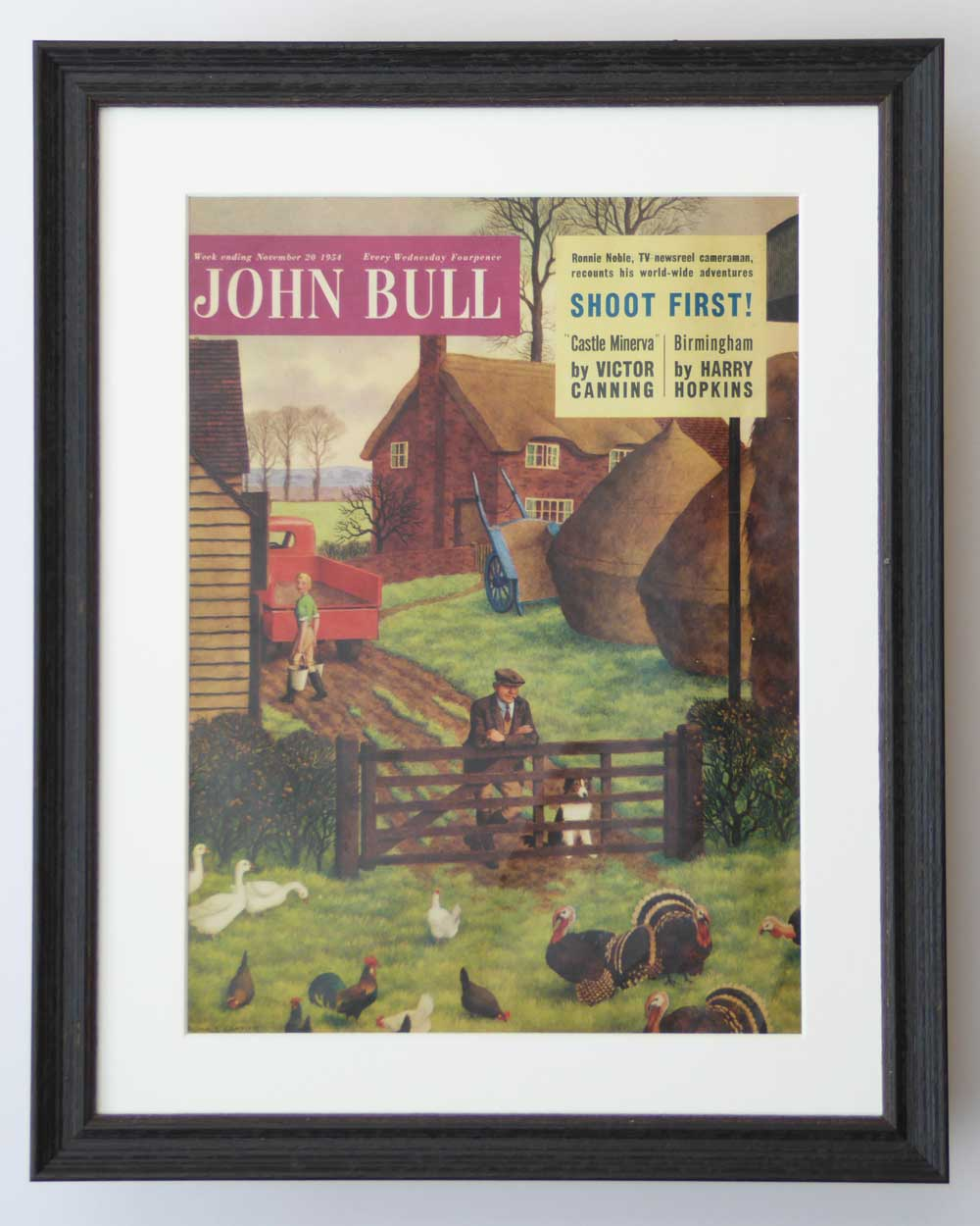 Vintage Art for farmer and Sheepdog Collie lover by The Enlightened Hound