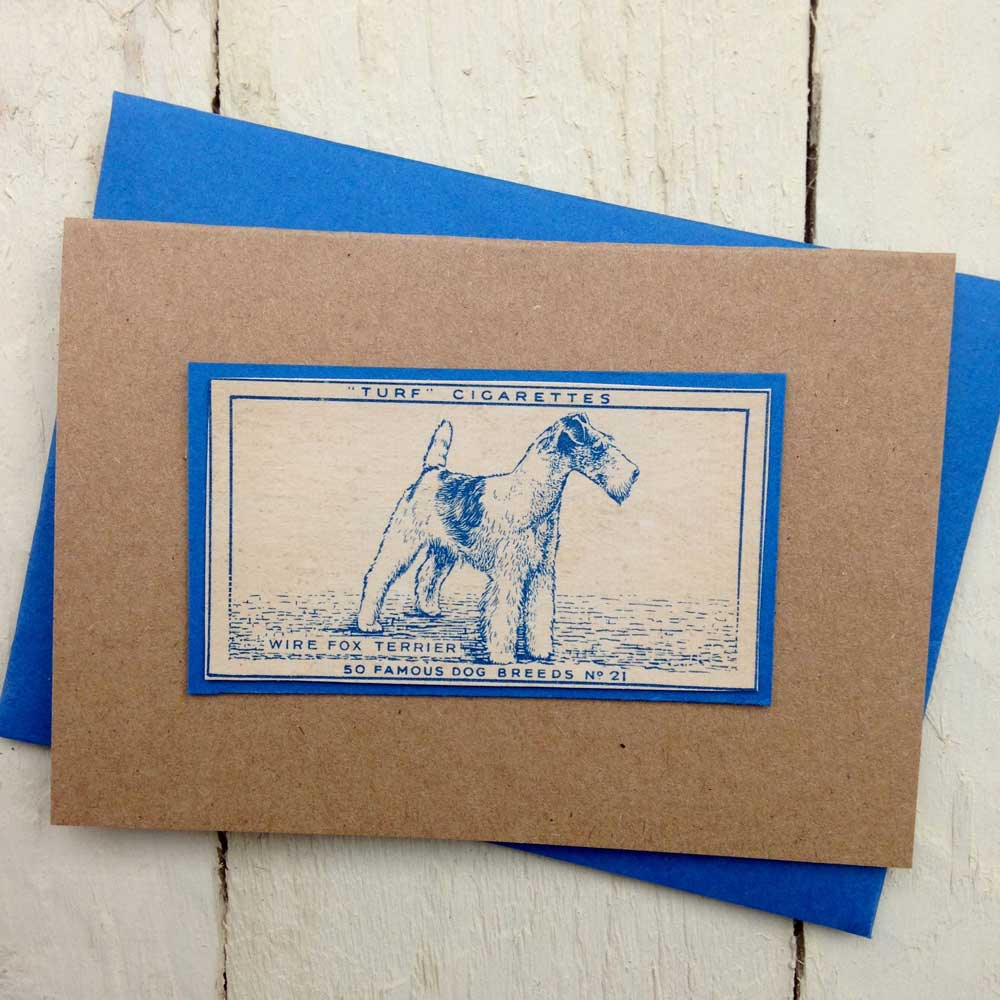 Wire Fox Terrier greeting card - The Enlightened Hound