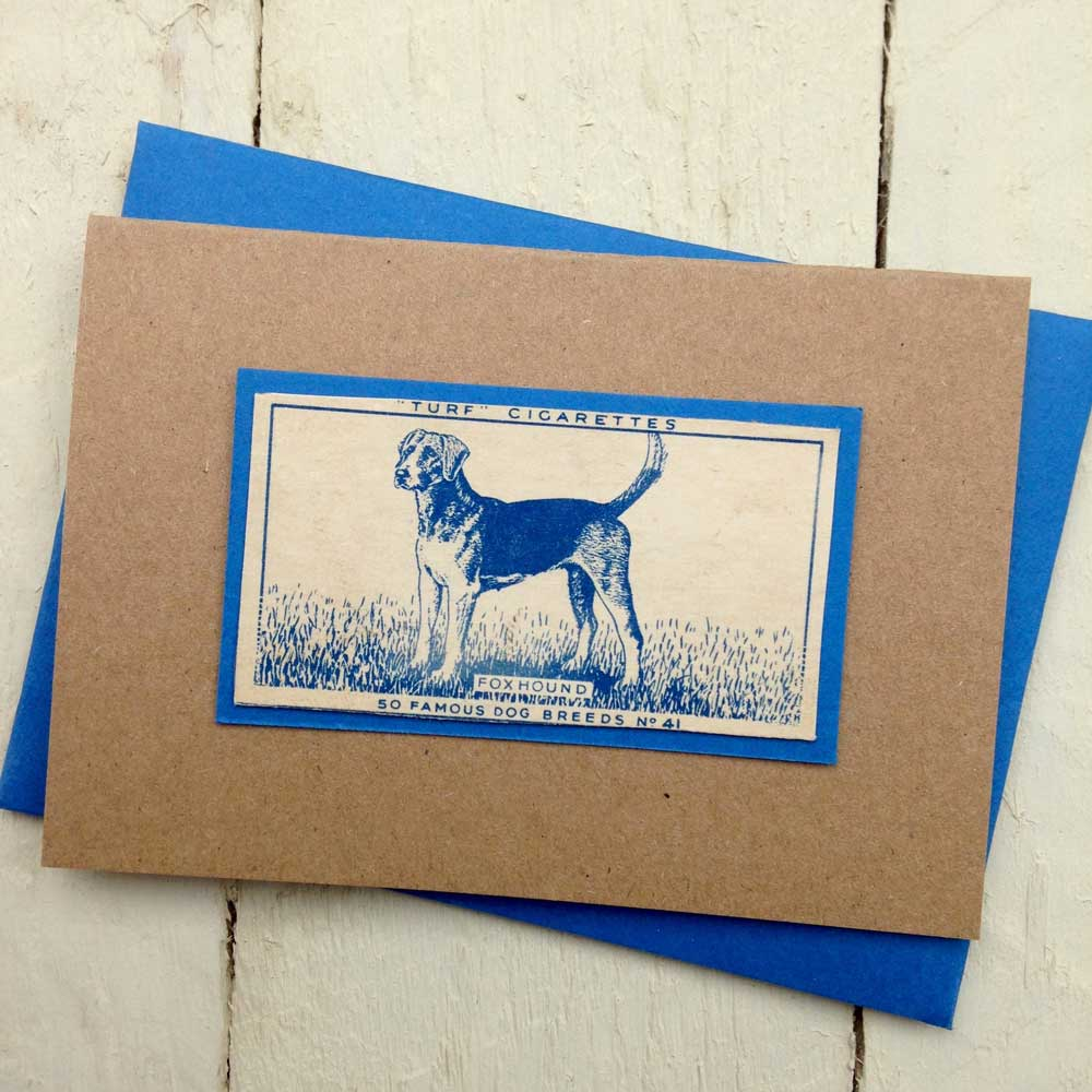 Foxhound greeting card - The Enlightened Hound