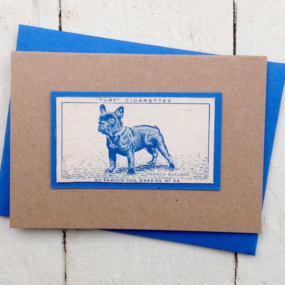 French bulldog greeting card - The Enlightened Hound