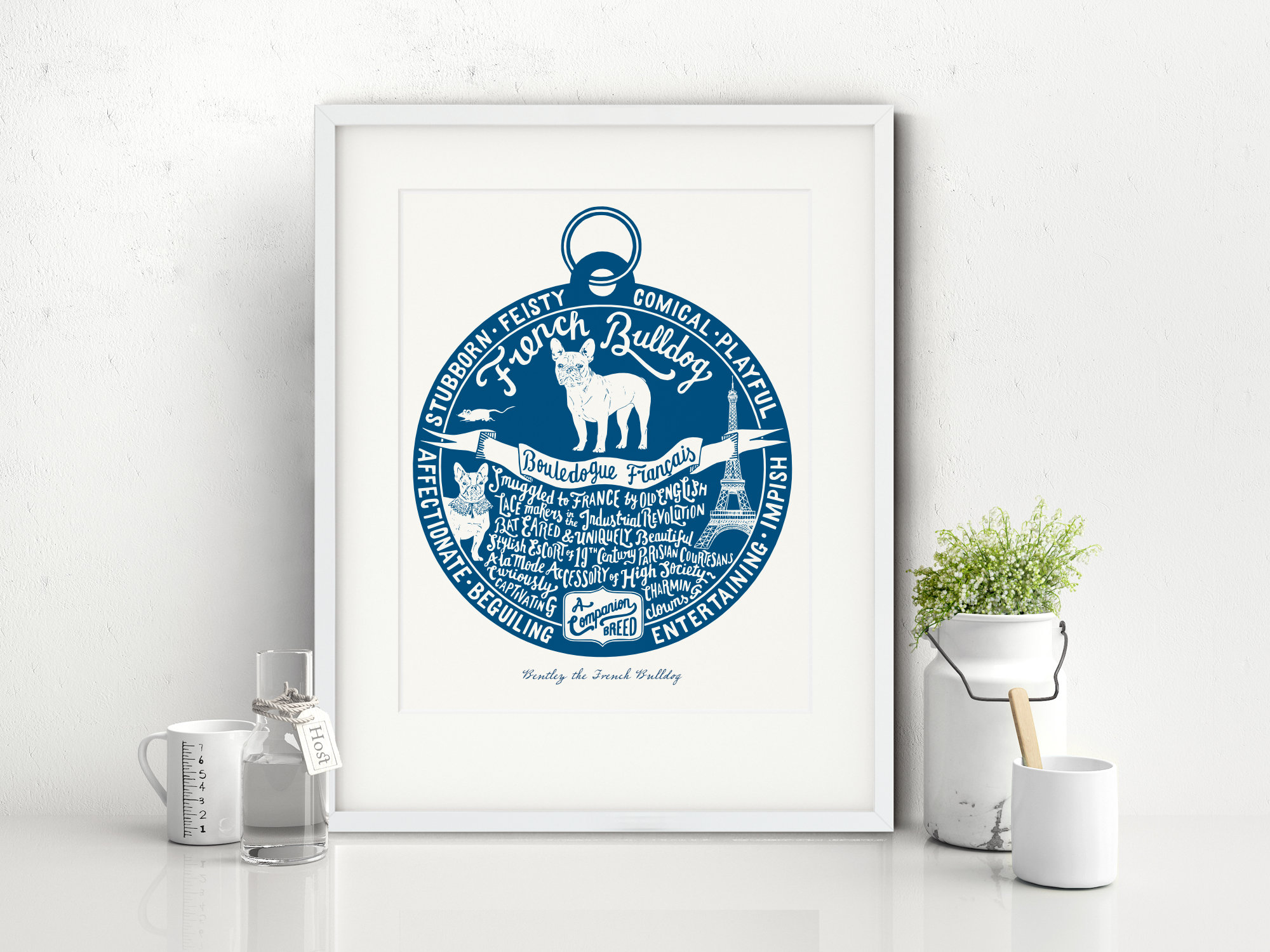 French Bulldog lover dog art gifts by The Enlightened Hound