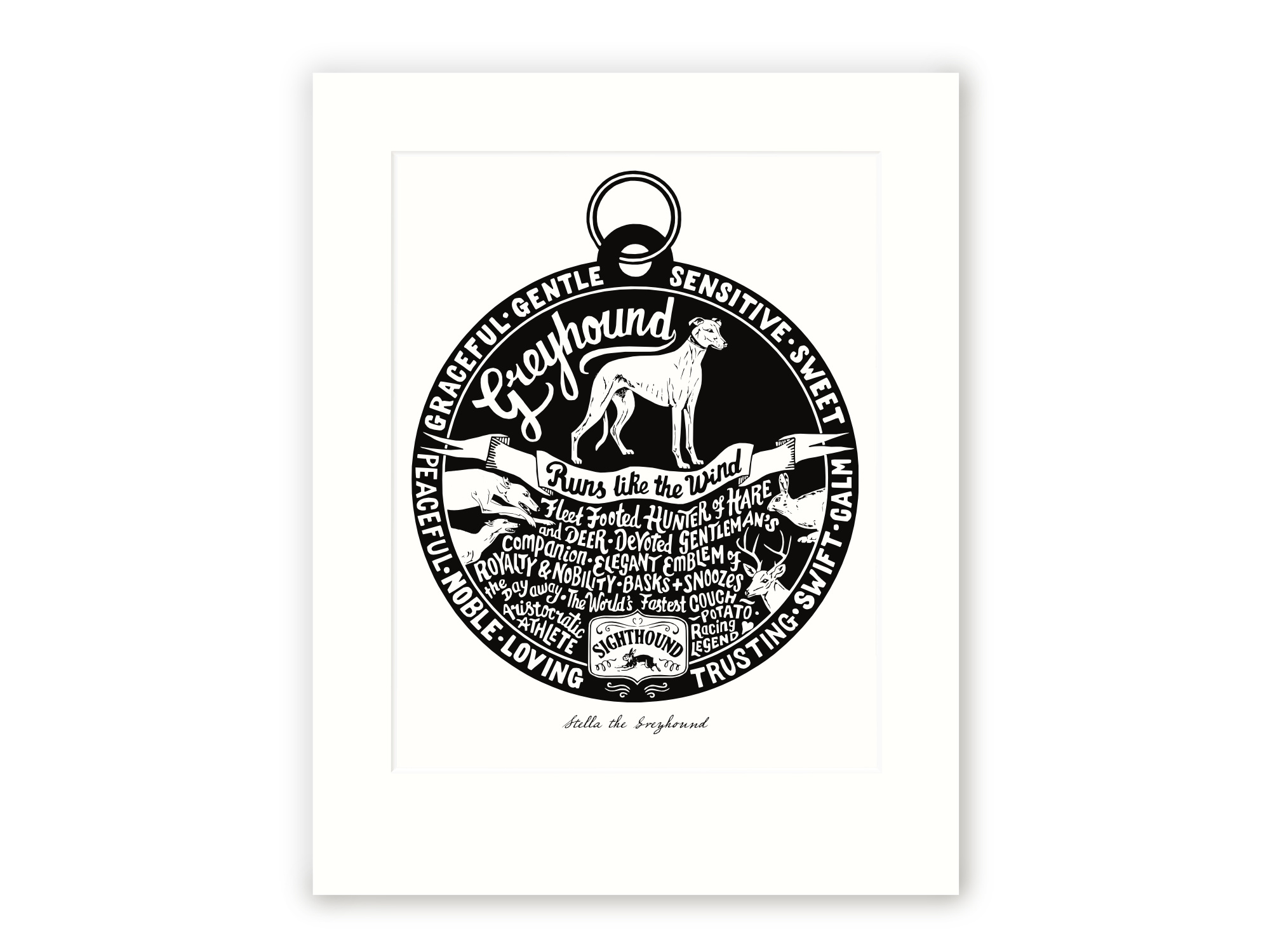Greyhound - Personalised Prints for Dog Lovers by The Enlightened Hound
