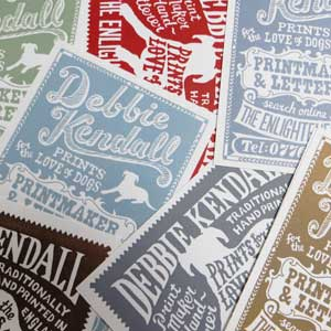 Debbie Kendall Hand Drawn Business Cards