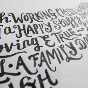 Pen and Ink Hand Drawn Letters by Debbie Kendall