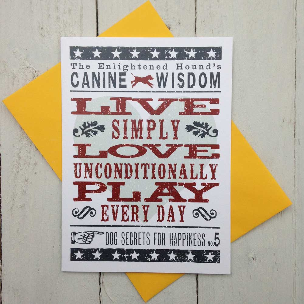 Inspirational Dog Sayings Cards - The Enlightened Hound