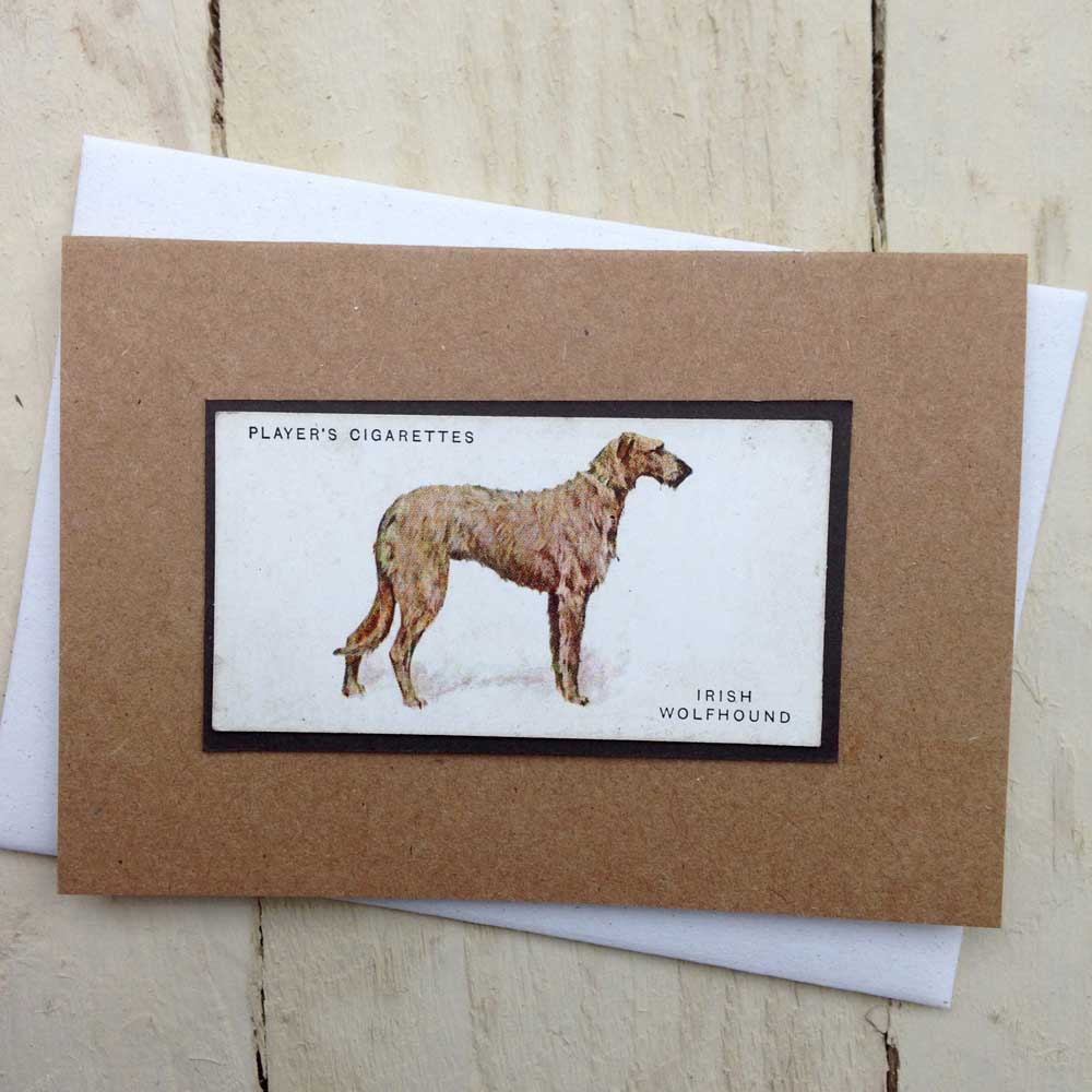 Irish Wolfhound card - The Enlightened Hound