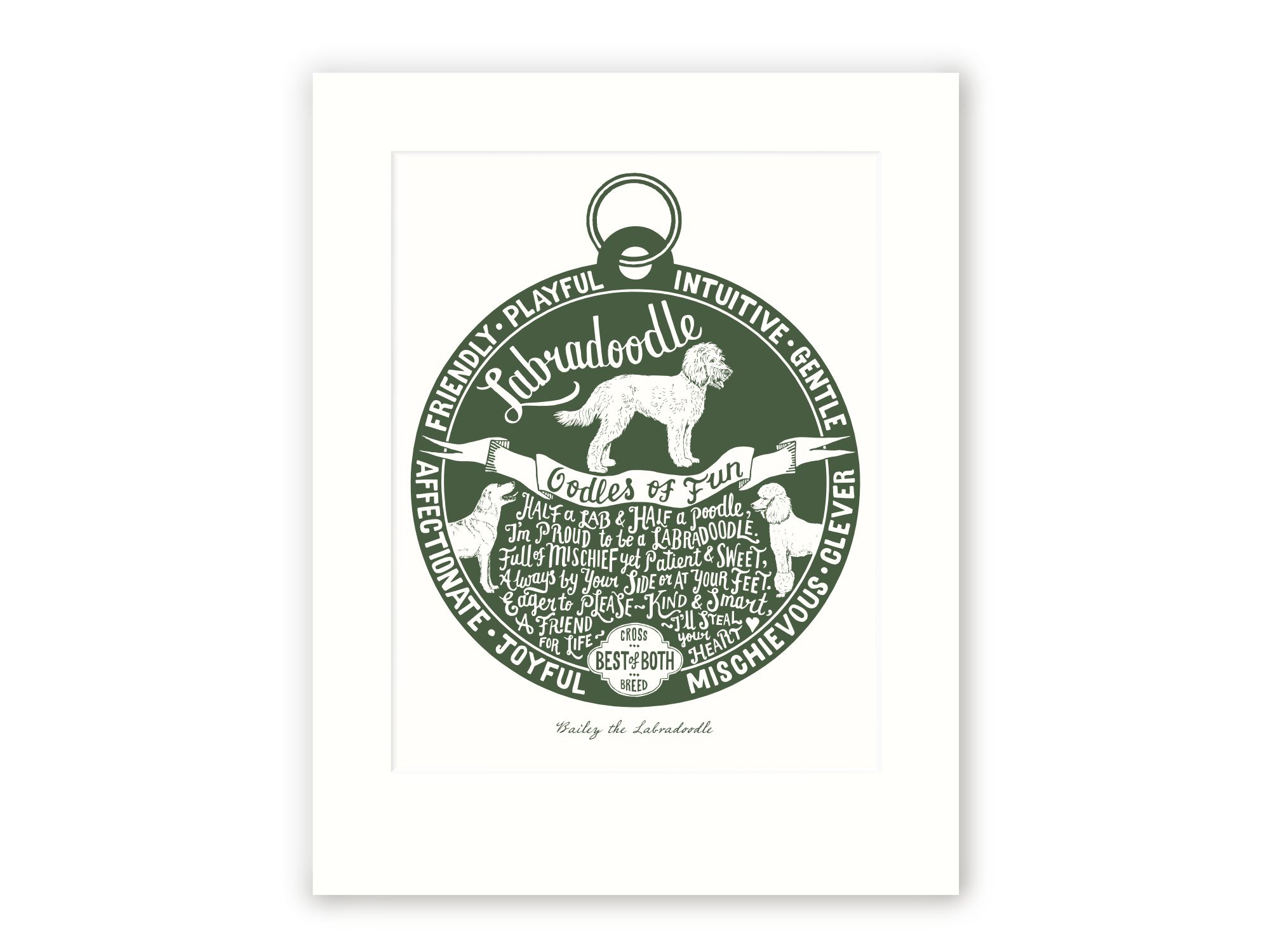 Labradoodle - Personalised Prints for Dog Lovers by The Enlightened Hound