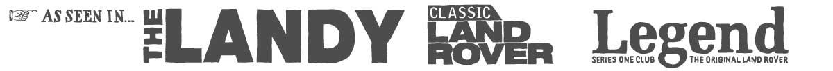 Land Rover magazine logos