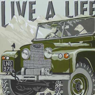 Land Rover art print detail by The Enlightened Hound
