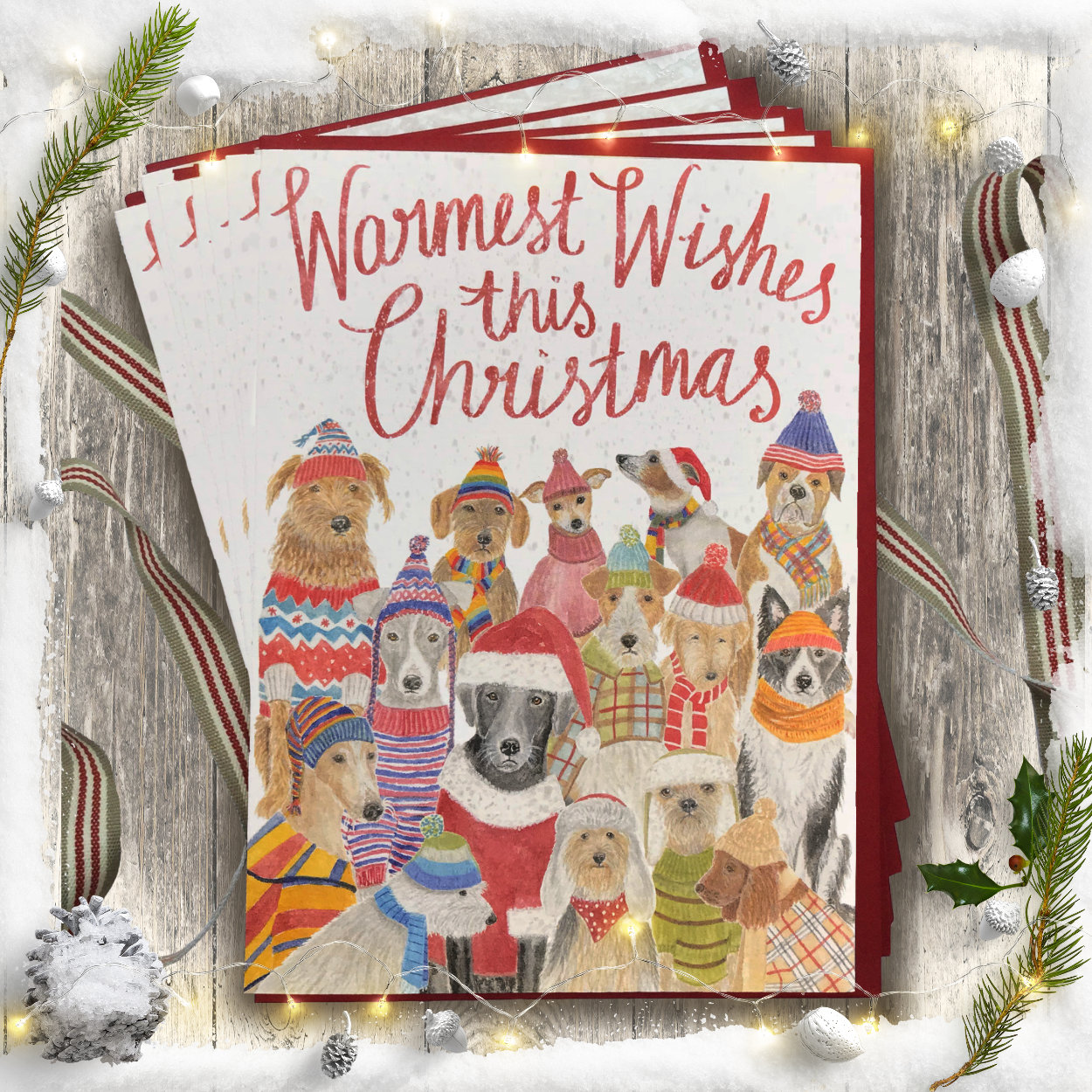 Warmest Wishes Christmas Card PACK OF 10