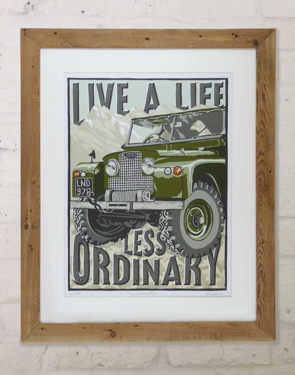 Old Land Rover print - a gift for people who love Land Rovers by The Enlightened Hound