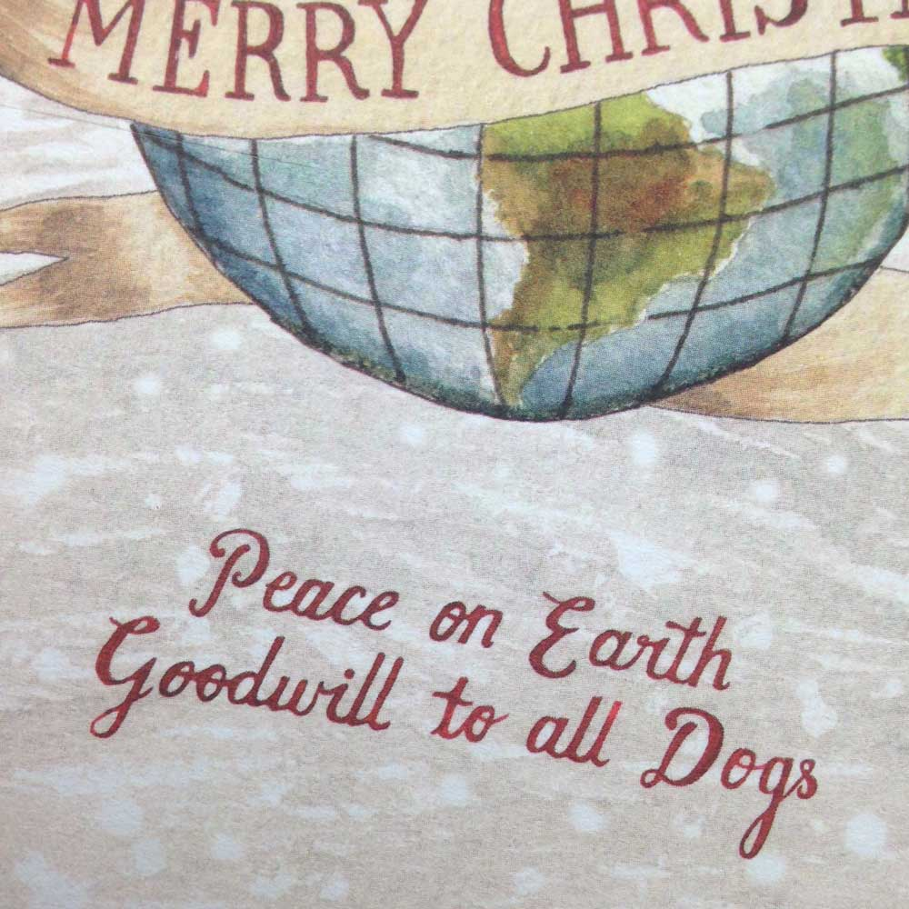 Peace on Earth Christmas Card- The Enlightened Hound