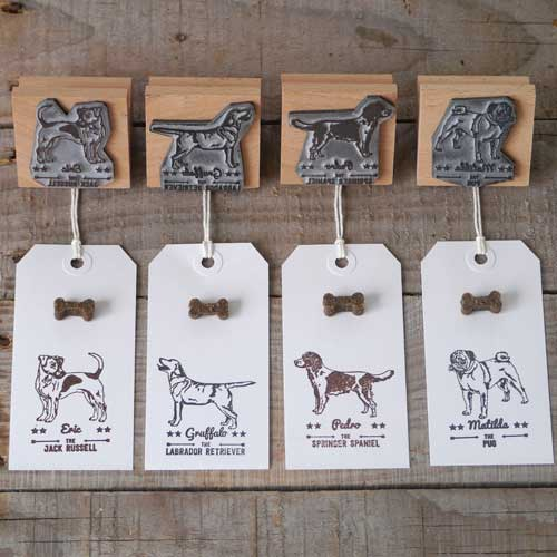 Personalised Rubber Dog Breed Stamps Debbie Kendall