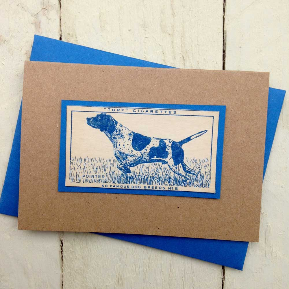 Pointer greeting card - The Enlightened Hound