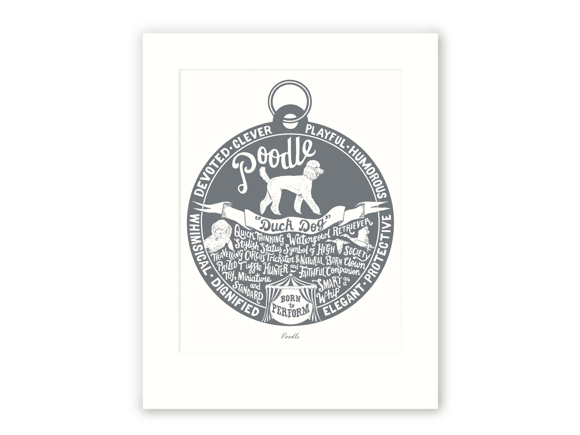 Poodle - Personalised Prints for Dog Lovers by The Enlightened Hound