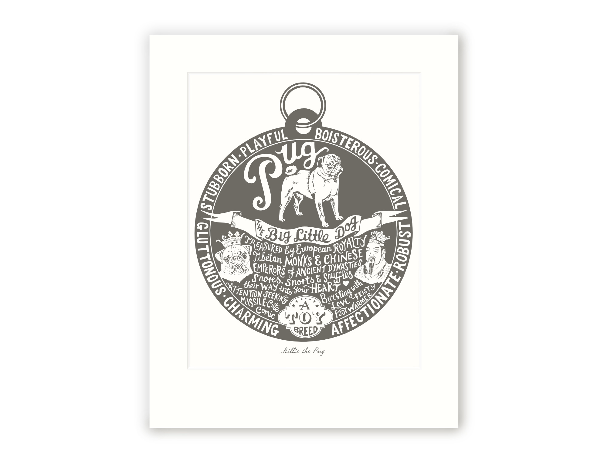 Pug - Personalised Prints for Dog Lovers by The Enlightened Hound