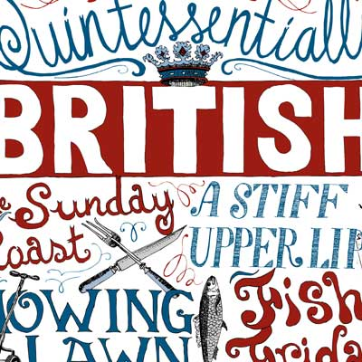 Quintessentially British Print by Debbie Kendall
