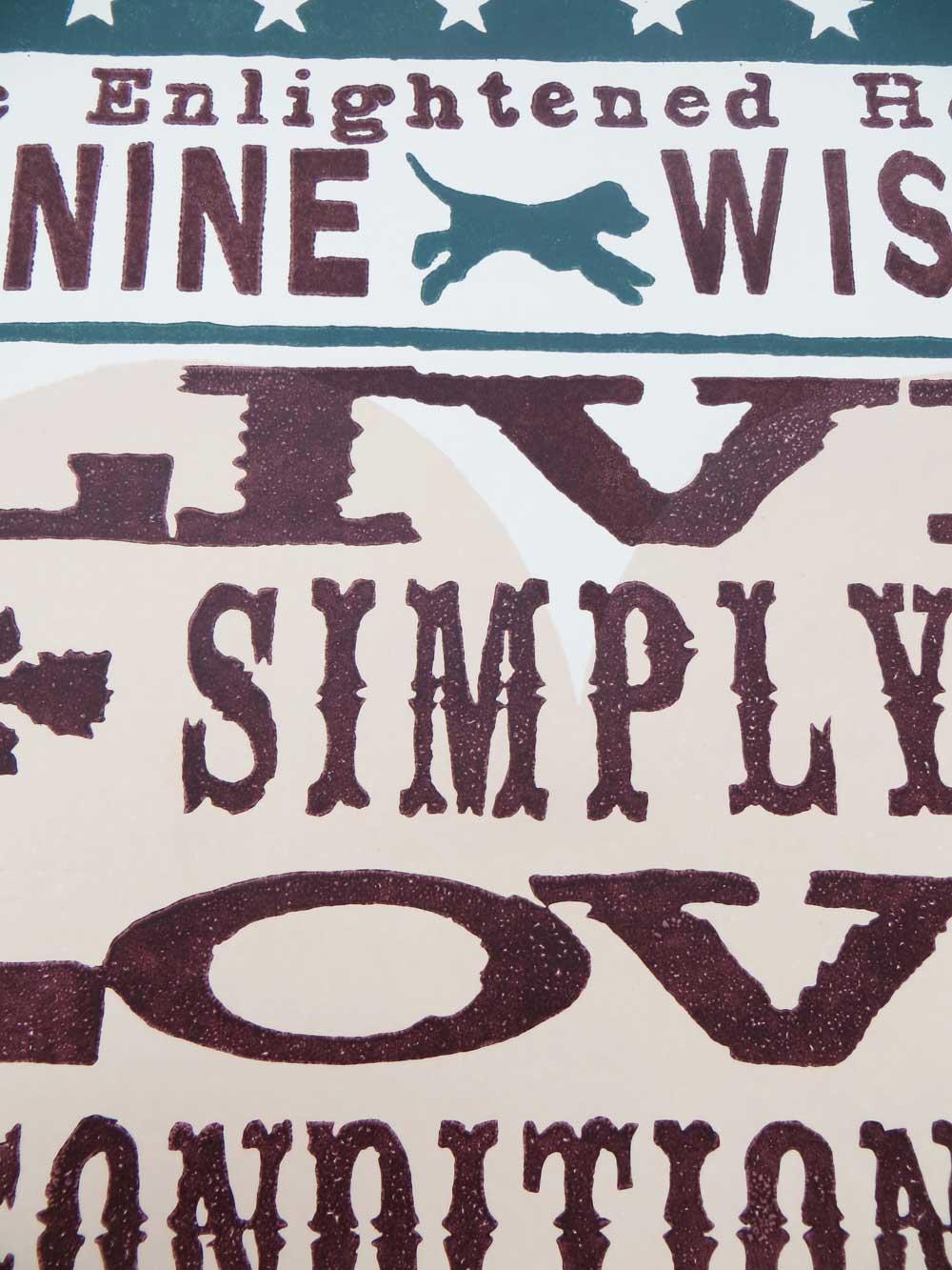 Dog sayings typographic word art print: The Enlightened hound