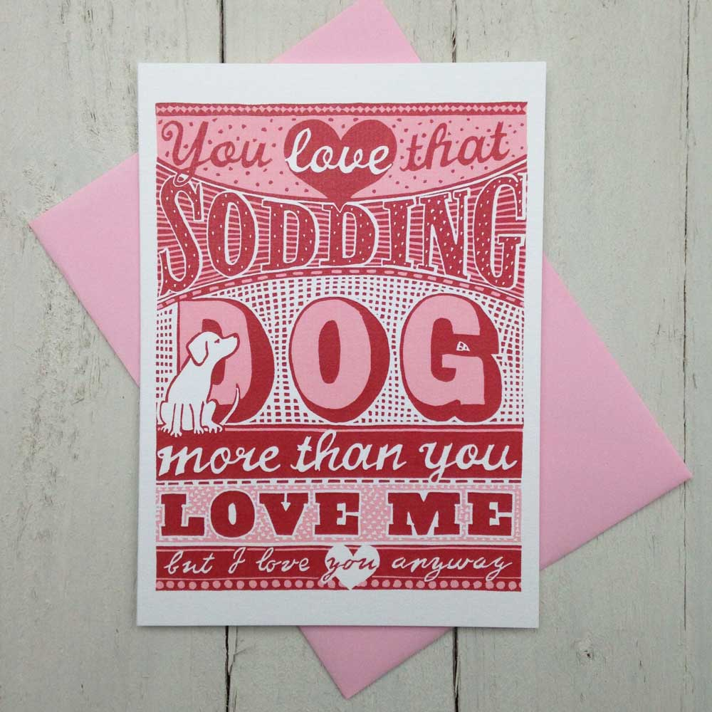 Valentines card for dog lovers The Enlightened Hound