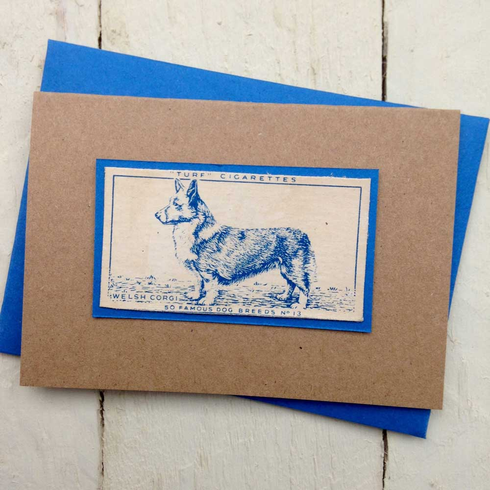 Welsh Corgi Vintage Greeting Card by The Enlightened Hound