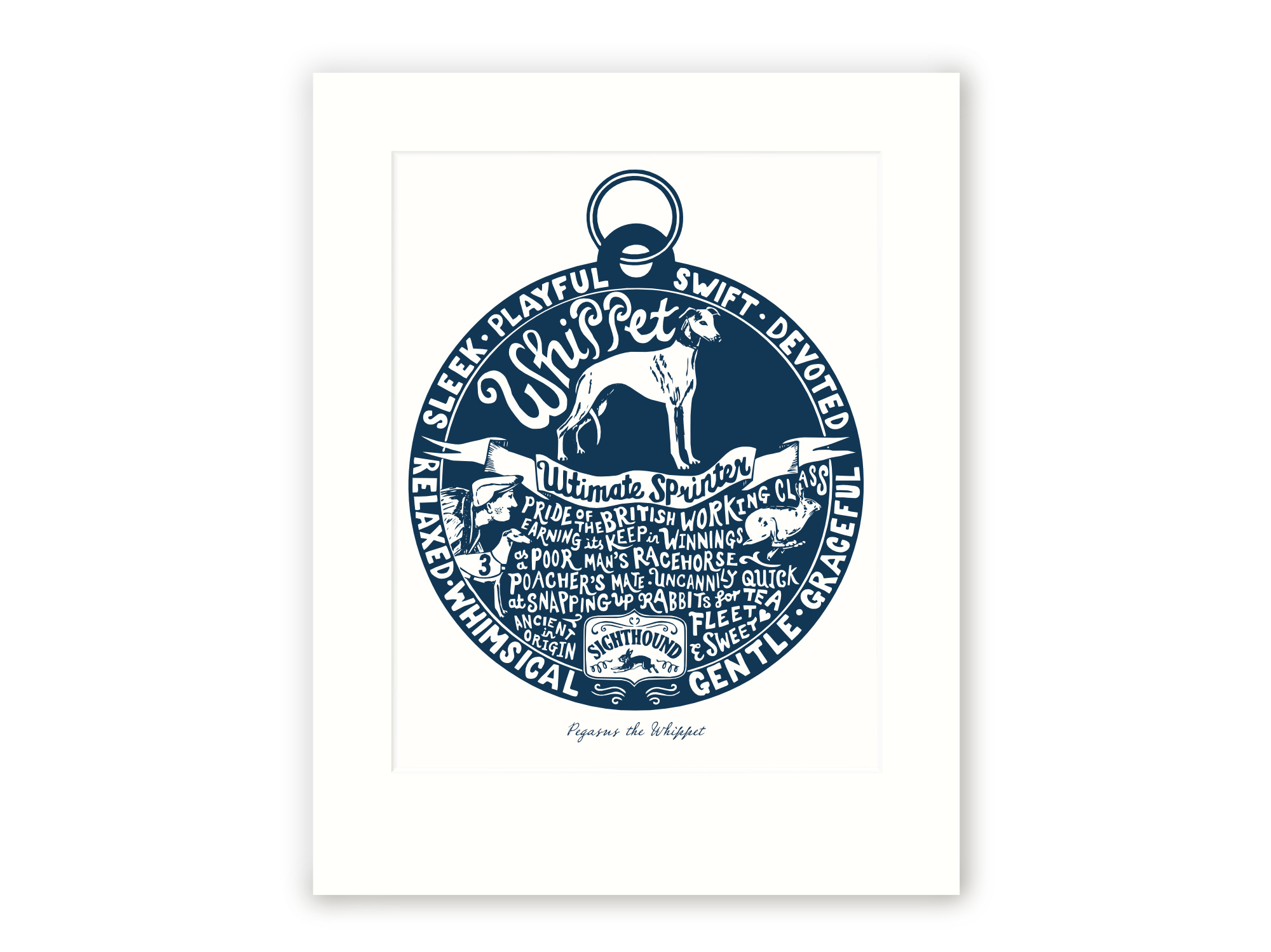 Whippet - Personalised Prints for Dog Lovers by The Enlightened Hound