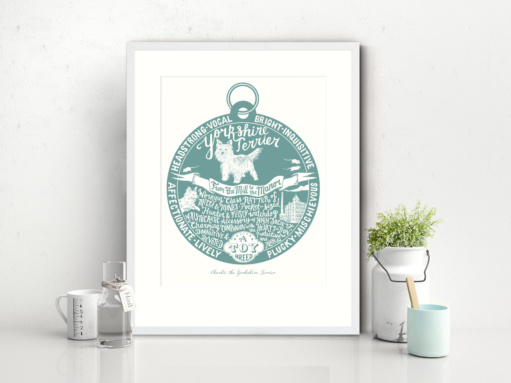 Yorkshire terrier lover dog art gifts by The Enlightened Hound